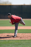 Arizona Diamondbacks relief pitcher Josh Taylor (50) follows through on his delivery during a Minor League Spring Training intrasquad game at Salt River Fields at Talking Stick on March 12, 2018 in Scottsdale, Arizona. (Zachary Lucy/Four Seam Images)