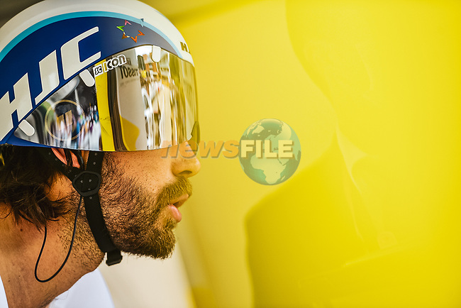 Rick Zabel (GER) Israel Start-Up Nation on the start ramp of Stage 5 of the 2021 Tour de France, an individual time trial running 27.2km from Change to Laval, France. 30th June 2021.  <br /> Picture: A.S.O./Charly Lopez | Cyclefile<br /> <br /> All photos usage must carry mandatory copyright credit (© Cyclefile | A.S.O./Charly Lopez)