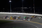 Monster Energy NASCAR Cup Series<br /> Can-Am Duel At Daytona<br /> Daytona International Speedway, Daytona Beach, FL USA<br /> Thursday 15 February 2018<br /> Denny Hamlin, Joe Gibbs Racing, FedEx Express Toyota Camry, Kevin Harvick, Stewart-Haas Racing, Jimmy John's Ford Fusion<br /> World Copyright: Michael L. Levitt<br /> LAT Images