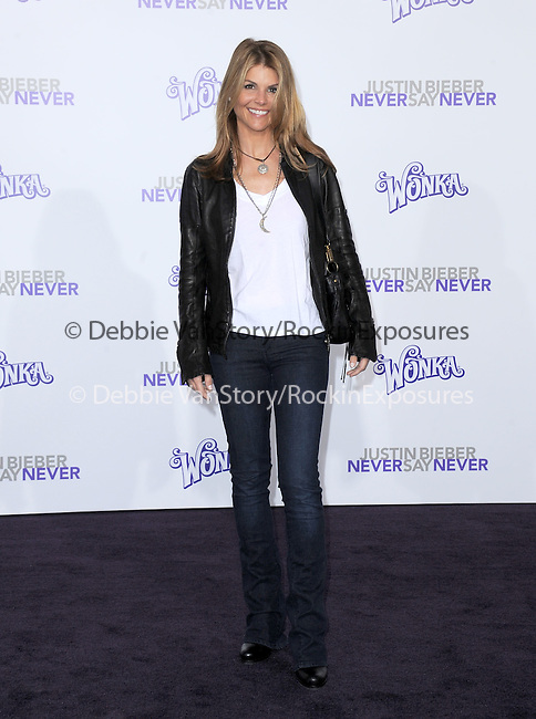 """Lori Loughlin attends the Paramount Pictures' L.A. Premiere of """"JUSTIN BIEBER: NEVER SAY NEVER."""" held at The Nokia Theater Live in Los Angeles, California on February 08,2011                                                                               © 2010 DVS / Hollywood Press Agency"""