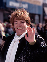 Sheila Copps at the 1999 Saint-Patrick Day Parade in Montreal<br /> <br /> Born in Hamilton, Ontario on November 27, 1952.<br /> First elected to the Legislative Assembly of Ontario in the 1981 provincial election as member for Hamilton Centre riding. Served until July 10, 1984.<br /> First elected to the House of Commons in the 1984 general election as Member of Parliament for Hamilton East and continues to serve.<br /> Appointed to the Cabinet as Deputy Prime Minister, Minister of the Environment, Minister of Canadian Heritage,<br /> Honours and Awards: Sworn to the Privy Council, November 4, 1993.<br /> <br /> photo (c)  Images Distribution