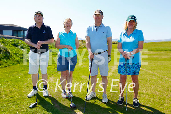 Great to be back on the Golf Course pictured here at Waterville Golf Links on Monday were l-r; John Fleming(President), Mary Fleming, Aidan & Ester McAuliffe.