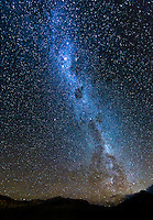 night sky over Torres del Paine, Patagonia, Chile