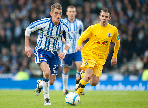 GLASGOW, SCOTLAND - JANUARY 28:  Kilmarnock's Dean Shiels on the run during the Scottish Communities Cup Semi Final match between Ayr United and Kilmarnock at Hampden Park on January 28, 2012 in Glasgow, United Kingdom. (Photo by Rob Casey/Getty Images).