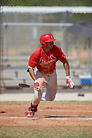 St. Louis Cardinals Nick Plummer (21) during a minor league Spring Training game against the New York Mets on March 28, 2017 at the Roger Dean Stadium Complex in Jupiter, Florida.  (Mike Janes/Four Seam Images)