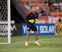 Hope Solo. The USWNT defeated Mexico, 7-0, during an international friendly at RFK Stadium in Washington, DC.  The USWNT defeated Mexico, 7-0.