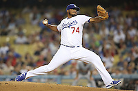 05/20/12 Los Angeles, CA:Los Angeles Dodgers relief pitcher Kenley Jansen #74 during an MLB game between the St Louis Cardinals and the Los Angeles Dodgers played at Dodger Stadium. The Dodgers defeated the Cardinals 6-5.