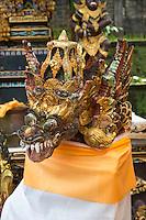 Jatiluwih, Bali, Indonesia.  Serpent's Head, Guarding Entrance to Temple Chamber.   Luhur Bhujangga Waisnawa Hindu Temple.