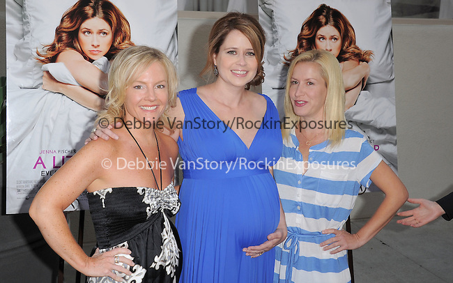 """Rachael Harris,Jenna Fischer and Angela Kinsey attends the L.A. Premiere of """"A Little Help"""" held at Sony Pictures Studios in Culver City ,California on July 14,2011                                                                               © 2011 DVS / Hollywood Press Agency"""