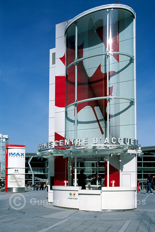 """The New Tourist Welcome Centre and Information Booth at """"Canada Place"""" Trade and Convention Centre, Vancouver, British Columbia, Canada"""