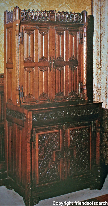 Cabinet designed by Augustus Pugin. House of Commons, 1851.London