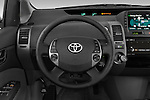 Steering wheel view of a 2008 Toyota Prius Touring