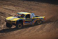 Dec. 9, 2011; Chandler, AZ, USA;  LOORRS pro 4 unlimited driver Jerry Daugherty during qualifying for round 15 at Firebird International Raceway. Mandatory Credit: Mark J. Rebilas-