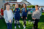 Kerry camogie stars Aoife Fitzgerald and captain Aine O'Connor lend their support to the Ardfert fundraiser for Comfort for Chemo on Sunday evening. L to r: Nicole O'Connor, Aoife Fitzgerald, Aine O'Connor and Brenda O'Connor