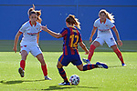 Liga IBERDROLA 2020-2021. Jornada: 12<br /> FC Barcelona vs Sevilla: 6-0.<br /> Patri Guijarro vs Maria Bores Vazquez.