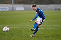 8th November 2020; SkyEx Community Stadium, London, England; Football Association Cup, Hayes and Yeading United versus Carlisle United; George Tanner of Carlisle United during the penalty shoot out