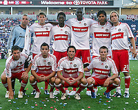 Chicago Fire team photo.  The Chicago Fire defeated English Premier League Team Everton FC 2-0 in a friendly match at Toyota Park in Bridgeview, IL, on July 30, 2008.