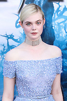 HOLLYWOOD, LOS ANGELES, CA, USA - MAY 28: Actress Elle Fanning arrives at the World Premiere Of Disney's 'Maleficent' held at the El Capitan Theatre on May 28, 2014 in Hollywood, Los Angeles, California, United States. (Photo by Xavier Collin/Celebrity Monitor)