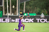 LAKE BUENA VISTA, FL - JULY 31: Nani #17 of Orlando City SC before the game during a game between Orlando City SC and Los Angeles FC at ESPN Wide World of Sports on July 31, 2020 in Lake Buena Vista, Florida.