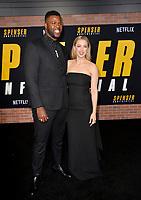"LOS ANGELES, CA: 27, 2020: Winston Duke & Iliza Shlesinger at the world premiere of ""Spenser Confidential"" at the Regency Village Theatre.<br /> Picture: Paul Smith/Featureflash"