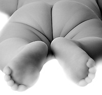 Baby feet and butt