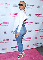 HOLLYWOOD, LOS ANGELES, CA, USA - SEPTEMBER 19: Model Amber Rose arrives at the Perez Hilton's 10th Anniversary Party held at the Hollywood Athletic Club on September 19, 2014 in Hollywood, Los Angeles, California, United States. (Photo by Xavier Collin/Celebrity Monitor)