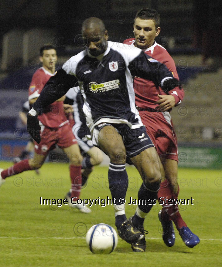 02/05/2007       Copyright Pic: James Stewart.File Name : sct_jspa11_raith_rovers_v_stirling_albion.MARVYN ANDREWS HOLDS OFF ROBERT SNODGRASS.James Stewart Photo Agency 19 Carronlea Drive, Falkirk. FK2 8DN      Vat Reg No. 607 6932 25.Office     : +44 (0)1324 570906     .Mobile   : +44 (0)7721 416997.Fax         : +44 (0)1324 570906.E-mail  :  jim@jspa.co.uk.If you require further information then contact Jim Stewart on any of the numbers above.........