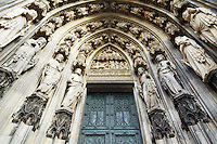 Cologne Cathedral west entry arch, Cologne, Germany, Europe