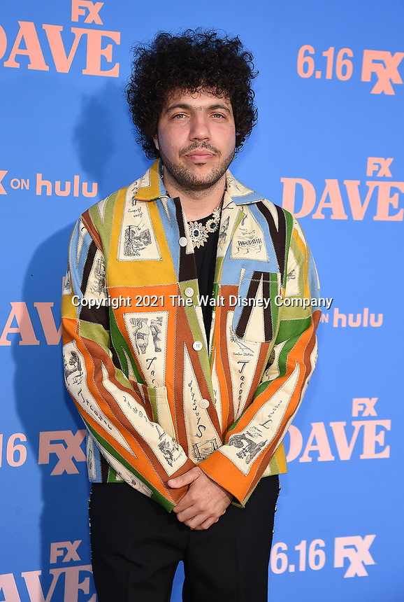 """LOS ANGELES, CA - JUNE 10: Benny Blanco attends the Season Two Red Carpet event for FXX's """"DAVE"""" at the Greek Theater on June 10, 2021 in Los Angeles, California. (Photo by Frank Micelotta/FXX/PictureGroup)"""