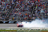 2017 NASCAR Xfinity Series<br /> My Bariatric Solutions 300<br /> Texas Motor Speedway, Fort Worth, TX USA<br /> Saturday 8 April 2017<br /> Erik Jones, Game Stop/ GAEMS Toyota Camry celebrates his victory<br /> World Copyright: Lesley Ann Miller/LAT Images<br /> ref: Digital Image lam_170408TX29401