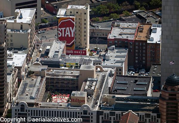 aerial photograph Hilton Hotel San Francisco Union Square, California