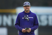 Western Carolina Catamounts head coach Bobby Moranda during the game against the St. John's Red Storm at Childress Field on March 13, 2021 in Cullowhee, North Carolina. (Brian Westerholt/Four Seam Images)