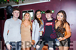 Aaron O'Connor, Sarah O'Keeffe, Conor Slevin, Ciara O'Brien and Michelle McCourt in Scotts bar New Years Eve in Killarney