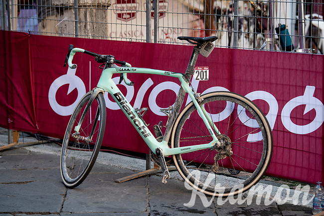 Wout Van Aert's (BEL/Jumbo-Visma) winning bike<br /> <br /> 14th Strade Bianche 2020<br /> Siena > Siena: 184km (ITALY)<br /> <br /> delayed 2020 (summer!) edition because of the Covid19 pandemic > 1st post-Covid19 World Tour race after all races worldwide were cancelled in march 2020 by the UCI