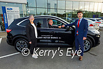 The Kerry Cancer Support Group receive their new car from Kerry Motor Works on Monday, l to r: Breda Dyland (Kerry Cancer Support Group), Maurice Laide (Volunteer Driver) and Kieran Griffin (Kerry Motor Works)