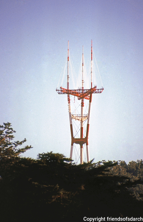 San Francisco: Mount Sutro T.V. Tower.   Photo '83.