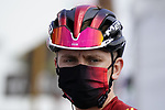 Race leader Tadej Pogacar (SLO) UAE Team Emirates at sign on before the start of Stage 6 of the 2021 UAE Tour running 165km from Deira Island to Palm Jumeirah, Dubai, UAE. 26th February 2021.  <br /> Picture: Eoin Clarke   Cyclefile<br /> <br /> All photos usage must carry mandatory copyright credit (© Cyclefile   Eoin Clarke)