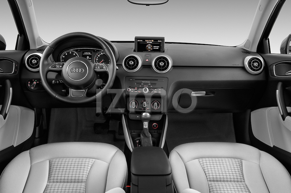 Straight dashboard view of a 2014 Audi A1 Ambition 3 Door Hatchback 2WD