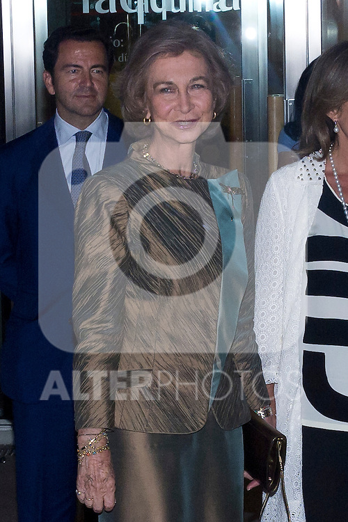 09.10.2012. Queen Sofia of Spain attends concert in Ainhoa Arteta at the Teatros del Canal in Madrid, Spain. In the image Queen Sofia (Alterphotos/Marta Gonzalez)