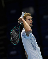 18th November 2020, O2, London, England; Alexander Zverev , Germany at the ATP finals in London