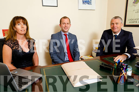 Solicitor Brendan Ahern joins Patrick Daly and Co Solicitors. <br /> L to r: Caroline Foran, Brendan Ahern and Pa Daly