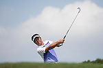 Man Wenjun plays during the World Celebrity Pro-Am 2016 Mission Hills China Golf Tournament on 22 October 2016, in Haikou, China. Photo by Victor Fraile / Power Sport Images