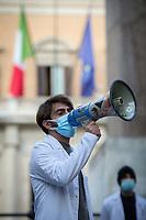 15.12.2020 - Italian Health Care Service Doctors Protest At Parliament #SbloccateSSM2020