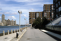 New York City: Roosevelt Island--East River, looking North.