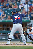 \tn26n\ of the Toledo Mud Hens at bat against the Charlotte Knights at BB&T BallPark on April 24, 2019 in Charlotte, North Carolina. The Knights defeated the Mud Hens 9-6. (Brian Westerholt/Four Seam Images)