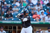 Yermin Mercedes (24) of the Charlotte Knights at bat against the Gwinnett Stripers at Truist Field on July 15, 2021 in Charlotte, North Carolina. (Brian Westerholt/Four Seam Images)