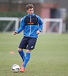 Ryan Sinnamon training with the first team