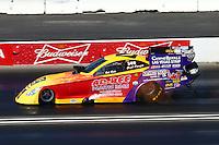 Feb 8, 2015; Pomona, CA, USA; NHRA funny car driver Bob Bode during the Winternationals at Auto Club Raceway at Pomona. Mandatory Credit: Mark J. Rebilas-