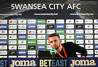 Adam Stepien prior to the Swansea City Press Conference bofore their game against Southampton, at The Liberty Stadium. Thursday 15 September 2016