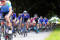 Aaron Gate (New Zealand/Black Spoke Pro Cycling Academy, centre) during stage four of the NZ Cycle Classic UCI Oceania Tour (Te Wharau-Admiral Hill Queen Stage) in Wairarapa, New Zealand on Saturday, 18 January 2020. Photo: Dave Lintott / lintottphoto.co.nz